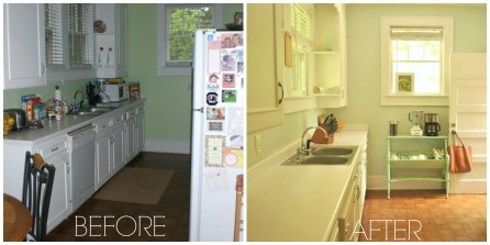 before and after, kitchen