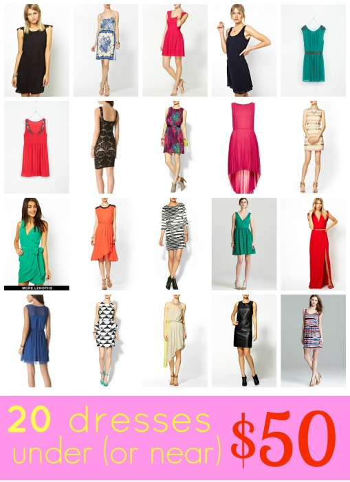 20 Dresses Under 50 Title Pic