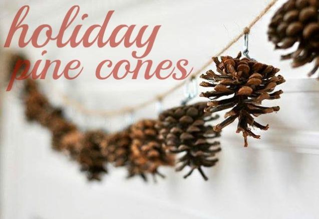 holiday pinecones header