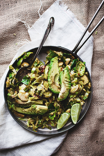 avocado and brussels