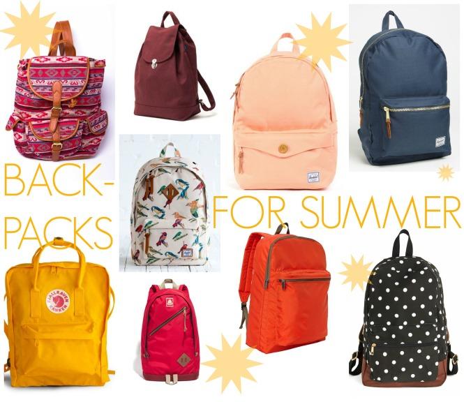 Backpacks for Summer