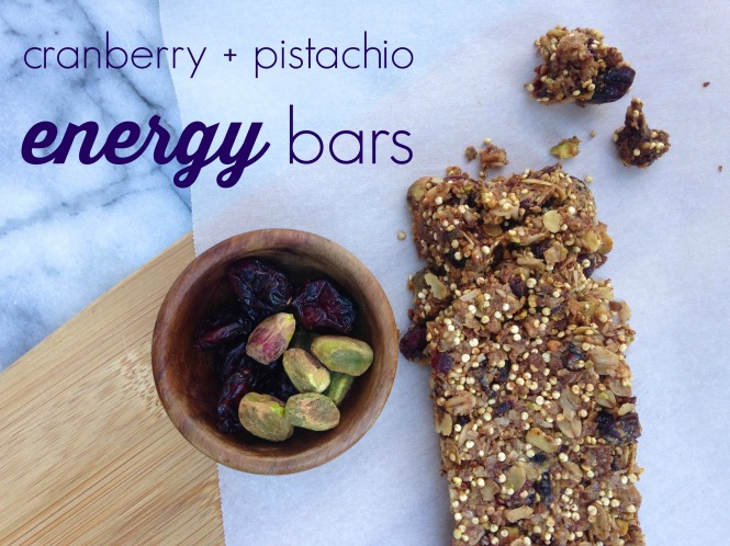 Cranberry and Pistachio Bars