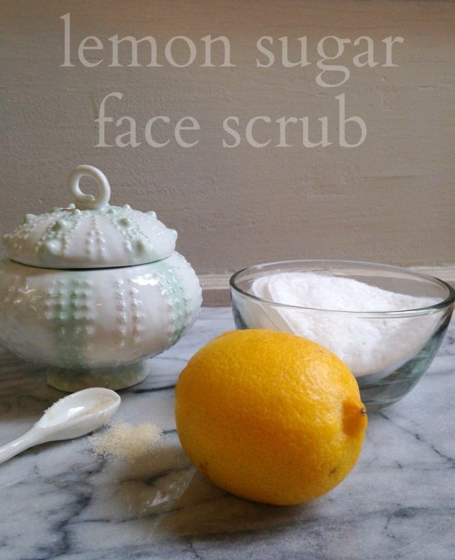 lemon sugar face scrub